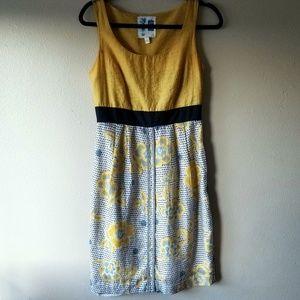 Anthropologie | Edme & Esyllte Yellow Floral Dress